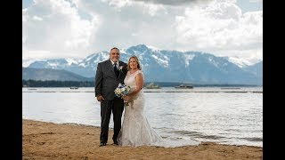 Lake Tahoe Resort Hotel and Lakeside Beach Wedding