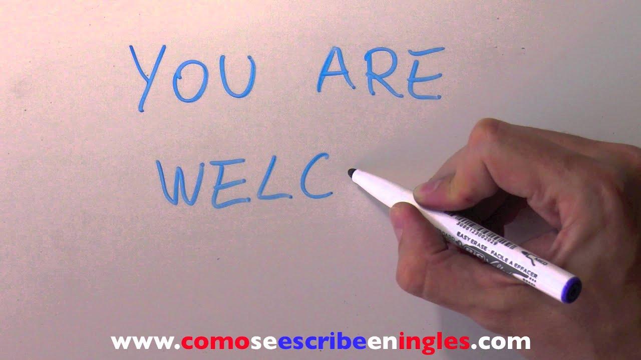 Aparador Dinn Jader Almeida ~ Cómo se escribe en inglés DE NADA YouTube