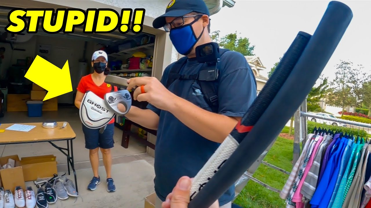 MAKING ROOKIE MISTAKES AT A GOLF COMMUNITY GARAGE SALE (Embarrassing!!)