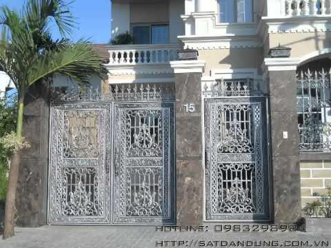 Cổng biệt thự, cổng nhôm đúc, cổng nhà đẹp, lan can nhôm đúc, cổng inox, cửa nhôm đúc