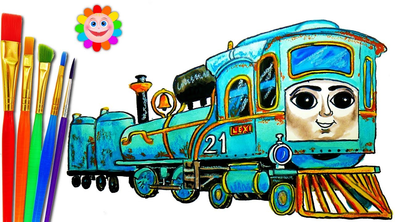 How to DRAW TRAIN Thomas and Friends Coloring Pages LEXI Train Video ...