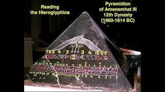 Hieroglyphics - Pyramidion - Amenemhat III - WORD for WORD