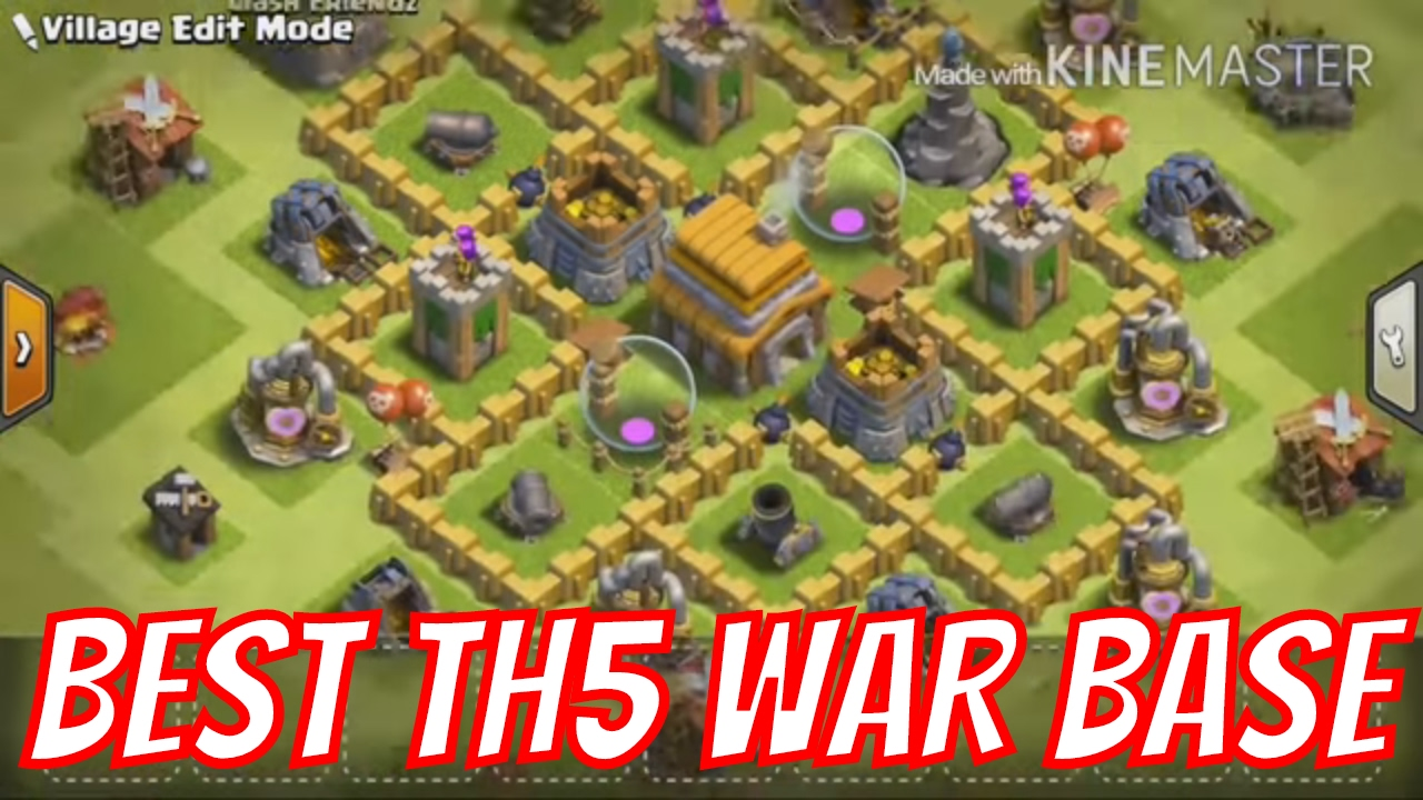 Base Coc Th 5 War Anti Bintang 3 6