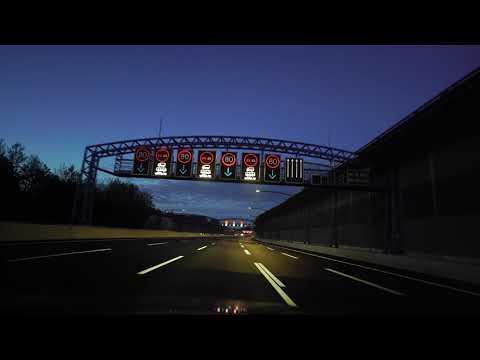 night drive through Hamburg 4K October 2020