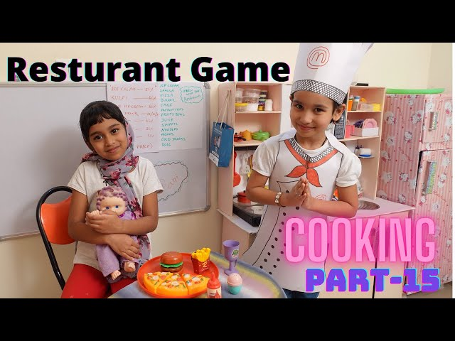 Cooking game in Hindi Part-15 |  Restaurant with Kitchen game | Customer and Waiter | LearnWithPari