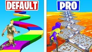 PRO vs DEFAULT Deathrun CHALLENGE! (Fortnite Creative Gamemode)