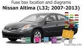 Fuse Box Location And Diagrams Nissan Altima L31 2002 2006 Youtube