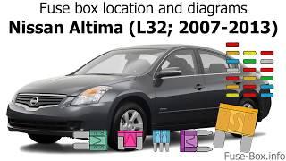 Fuse box location and diagrams: Nissan Altima (L32; 2007-2013) - YouTube