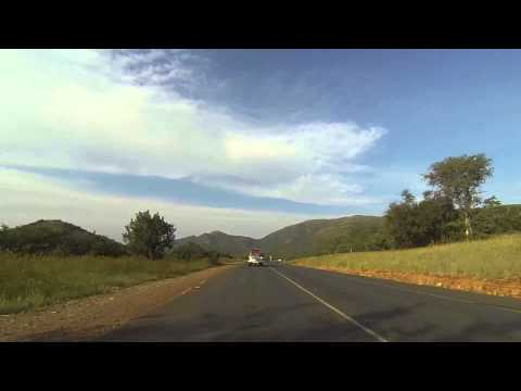 Driving from South Africa into Swaziland