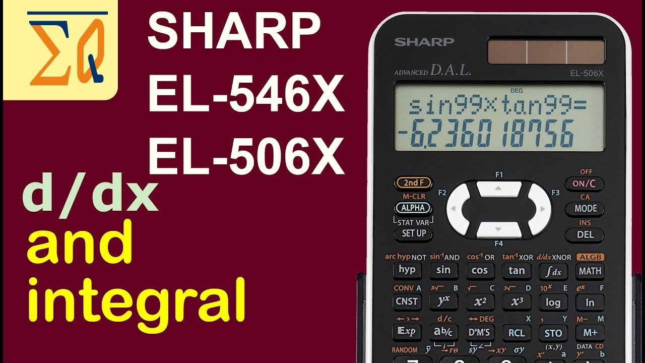 Sharp El 546x El506x Integral And Derivatives Evaluation Youtube