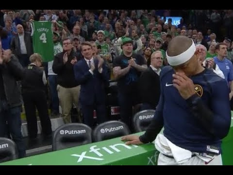 Isaiah Thomas Moved to Tears By Celtics Tribute Video and Crowd Ovation