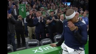 Isaiah Thomas Moved to Tears By Celtics Tribute Video and Crowd Ovation thumbnail