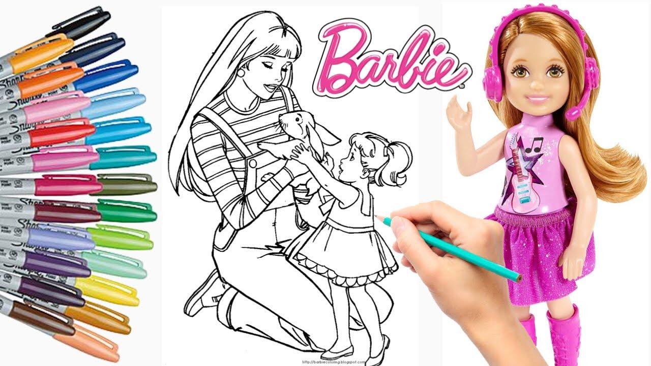 Mewarnai Barbie Doll Skipper And Chelsea