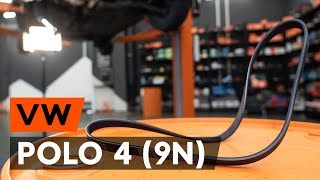 Cum se înlocuiește curea caneluri pe VW POLO 4 (9N) [TUTORIAL AUTODOC]