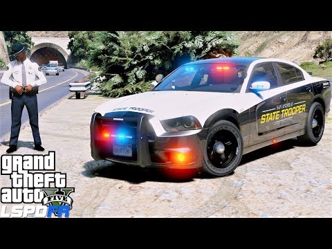 GTA 5 LSPDFR #696 San Andreas State Police Raising Money To Help Out A Friend thumbnail