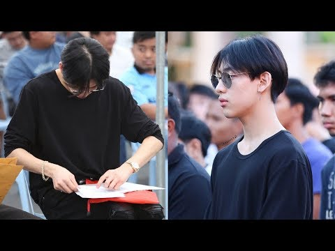 GOT7's Bambam Spotted in Black for His Military Draft Lottery in Thailand