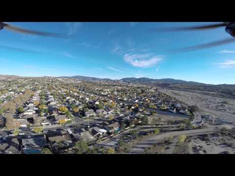 Canyon country drone eye view