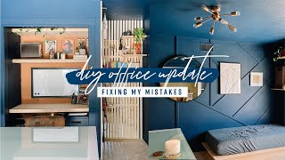 DIY Office Update | Fixing My Mistakes!