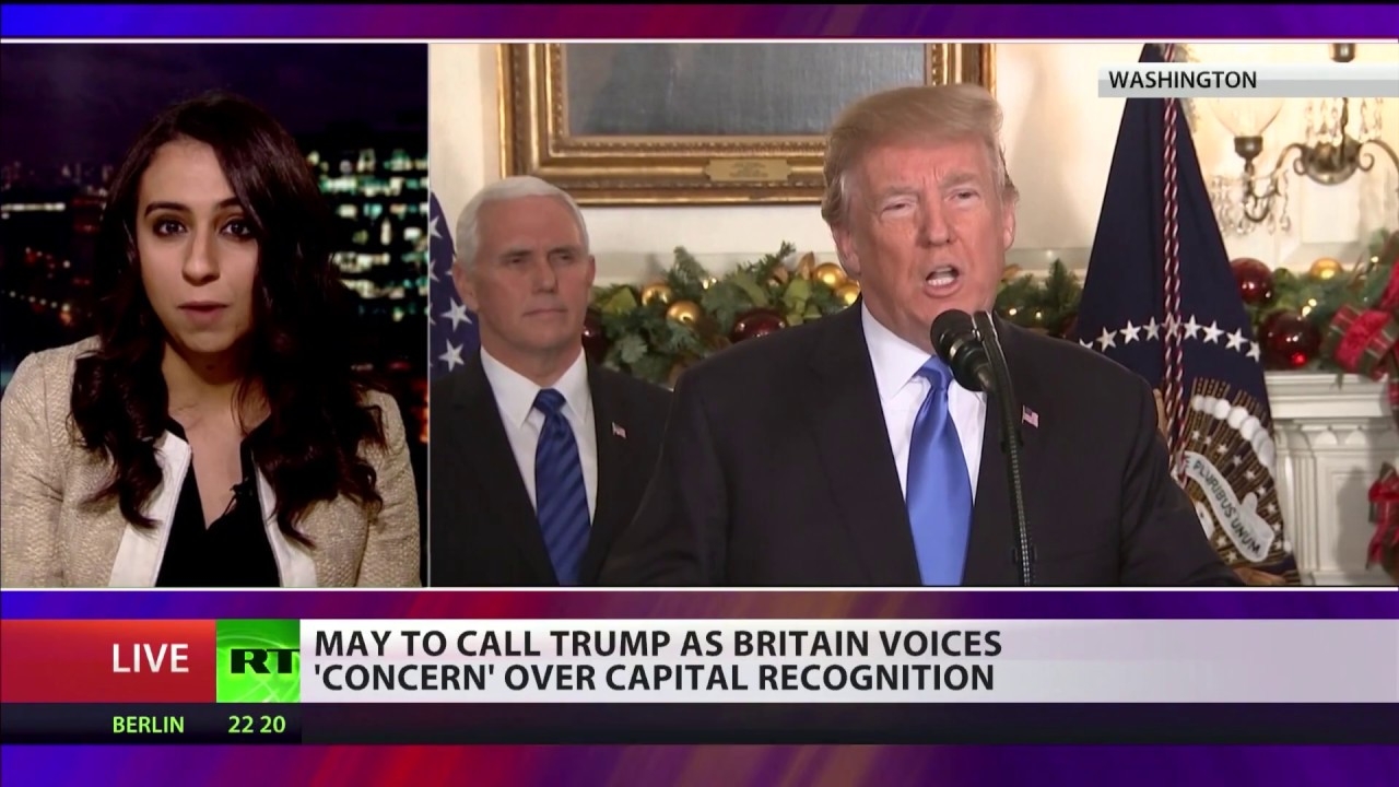May to call Donald Trump over Israel capital being Jerusalem