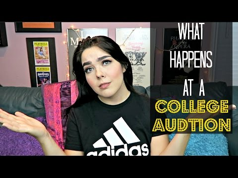 What Happens at a College Audition | College Auditions