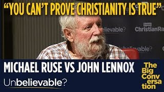 "Atheist Michael Ruse tells John Lennox ""You can't prove Christianity is true"""