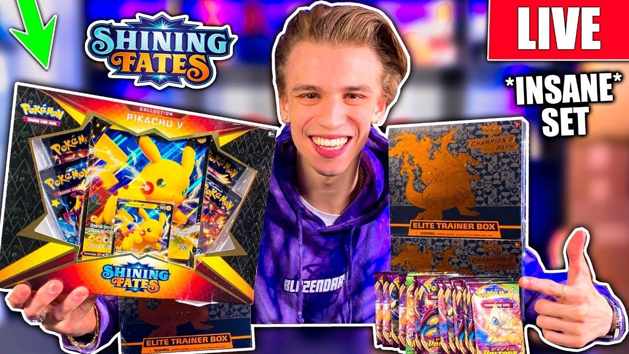 *NEW* SHINY FATES Pikachu V Box Opening! + Champions Path Elite Trainer Box / Vivid Voltage BREAK
