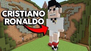 Minecraft: CRISTIANO RONALDO NO MINECRAFT! (BUILD TUBERS)