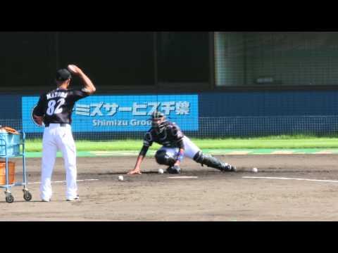 20140926石川亮と的場コーチのマンツーマン練習@鎌ヶ谷
