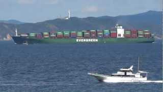[船]コンテナ船 EVER RACER Container ship Tokyo Bay 浦賀水道 2012-08-25