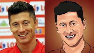 Robert Lewandowski vs. Cartoon Style | Adobe Illustrator LIVE