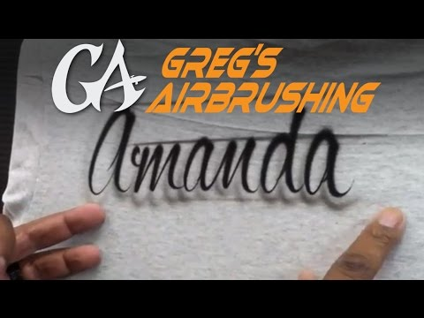 How to Airbrush Script Writing - Lettering Basics