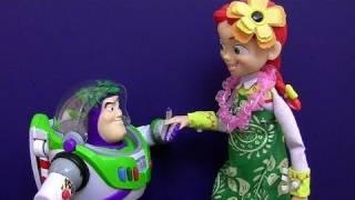 Jessie Hawaiian Vacation Action Figure Toy Story Toons Disney Pixar Toy Review Blutoys