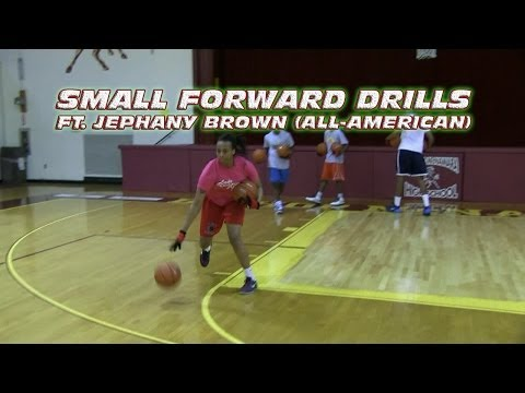 Small Forward Drills (ft. Jephany Brown All-American) - Coach Godwin Ep: 125- Basketball Drills