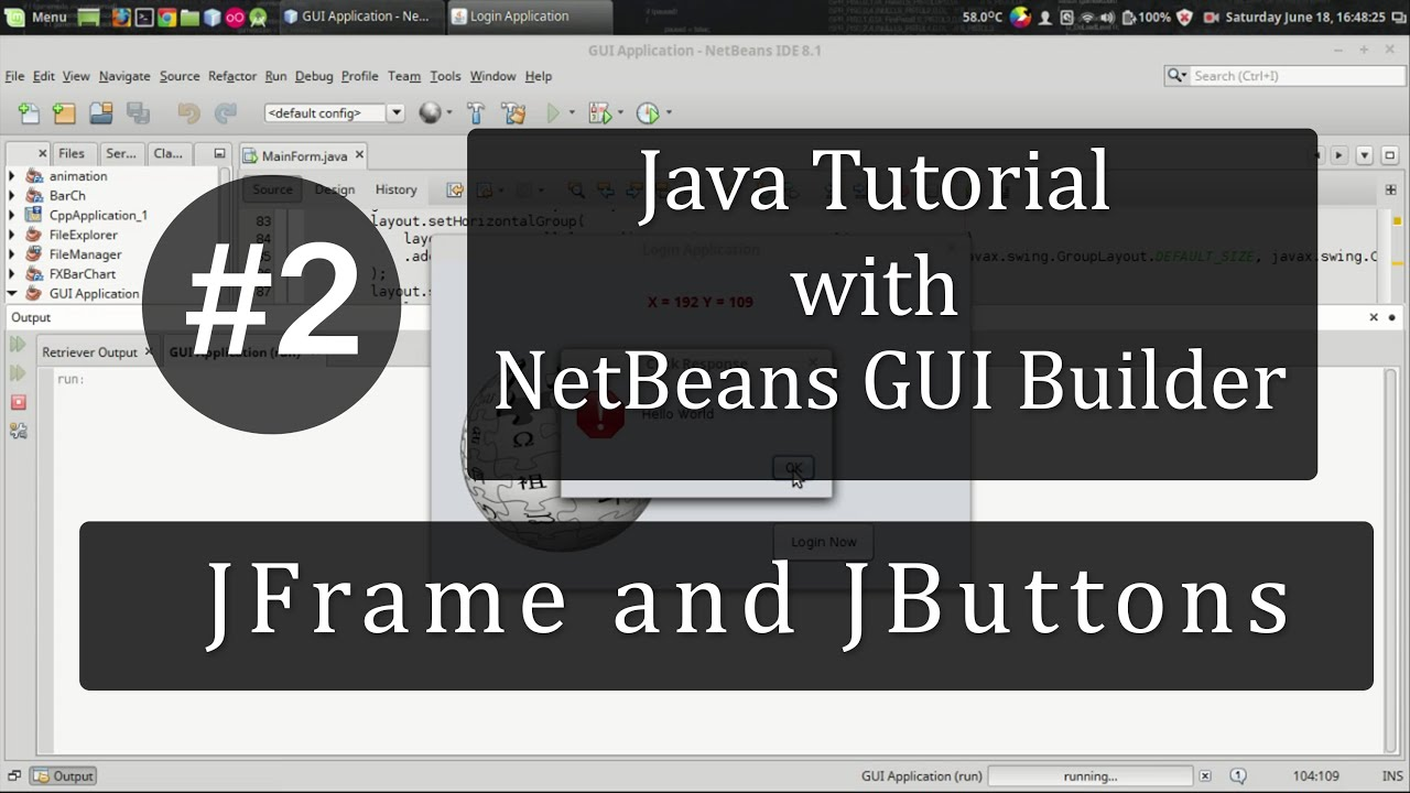 Java with netbeans tutorial 2 jframe and jbutton youtube java with netbeans tutorial 2 jframe and jbutton baditri Gallery