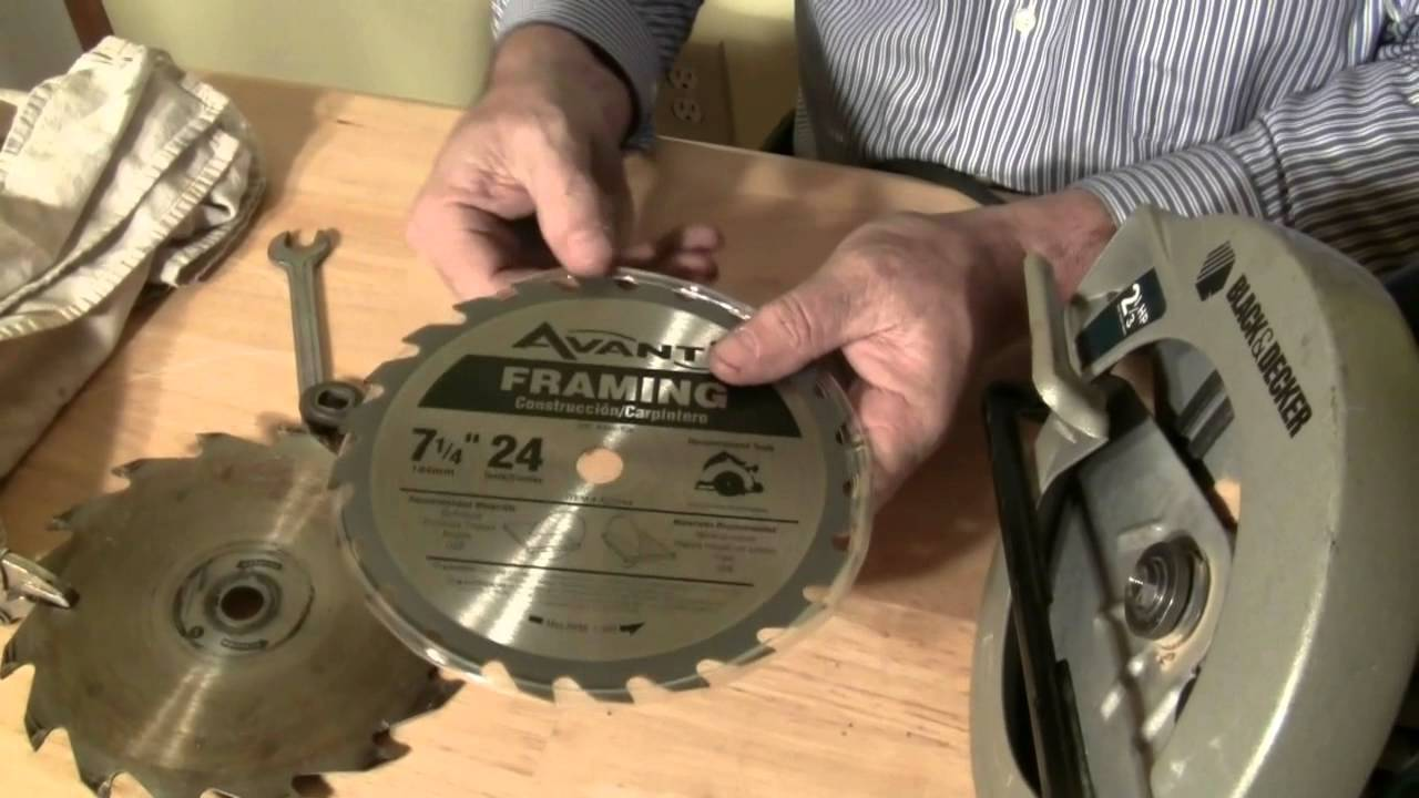 How to change the blade in a circular saw youtube greentooth Choice Image