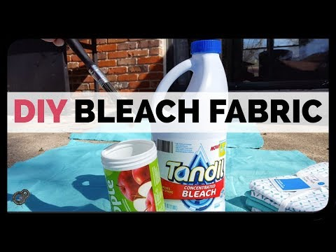 DIY Bleached Fabric Curtains