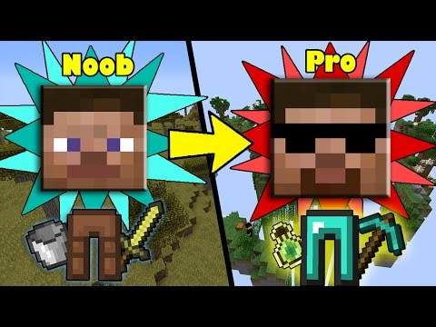 Tips how ANYONE can Transform from NOOB to PRO in Minecraft