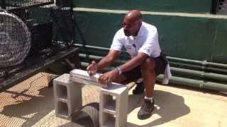 Security Guard Breaks Concrete Blocks