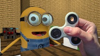 REALISTIC MINECRAFT IN REAL LIFE FIDGET SPINNER vs MINIONS ~ IRL ANIMATION / The Best Episode