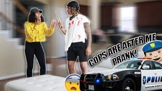 THE COPS ARE AFTER ME PRANK ON GIRLFRIEND!!