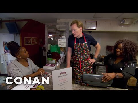 Conan Works At Sylvia's Restaurant   CONAN on TBS
