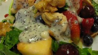 Betty's Fresh Fruit Salad Tossed With Salad Greens