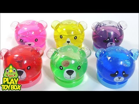 Bear Pearl Powder Colors Slime Clay Jelly Monster Orbeez Stressball