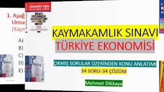 Kaymakamlık Sınavı Türkiye Ekonomisi (34 Soru 34 Çözüm)