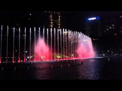 New Musical Fountain at KLCC (Petronas Twin Tower)