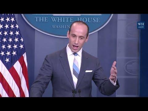 FULL: Stephen Miller VS Jim Acosta on Immigration, Green Card, Sarah Sanders Press Briefing 8/2/17