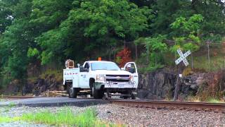 CSX MoW and Herzog LIDAR HiRail Truck Auto 41  7/29/1