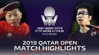 Ma Long vs Jun Mizutani | 2019 ITTF Qatar Open Highlights (1/4)