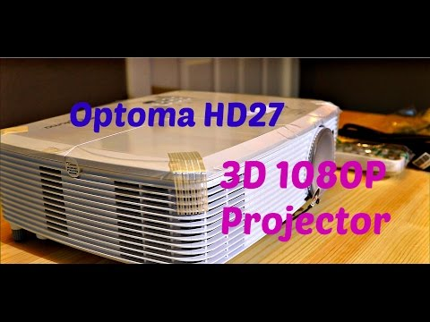 OPTOMA HD27 3D PROJECTOR   BEST 1080P PROJECTOR