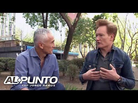 Conan O'Brien dice que palabras de Trump no reflejan lo que estadounidenses piensan de los mexicanos